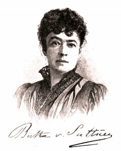 sketch of Bertha von Suttner from the 1890s