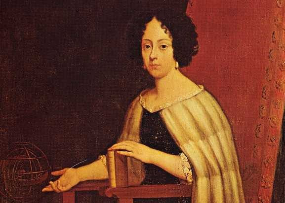 cropped portrait of Elena Piscopia seated with a book in her hand